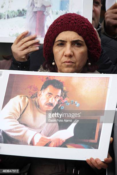 Kurdish demonstrators rallied for Ocalan's release on February 14 2015 in Ankara Ocalan has been captured on February 14 1999 and sentenced to life