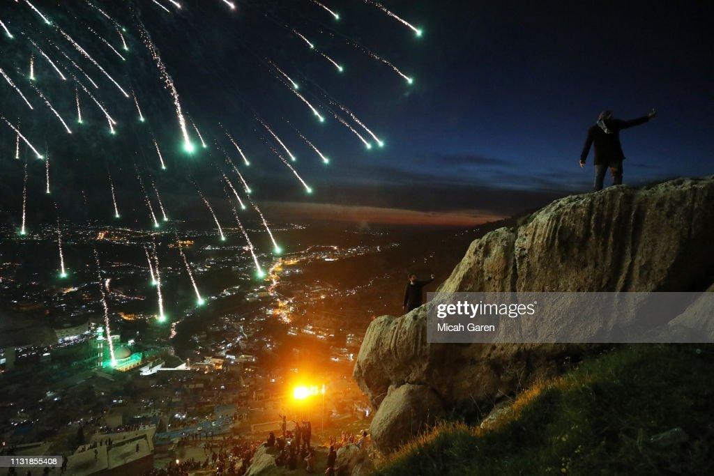 Nowruz Celebrations In Iraqi Kurdistan : News Photo