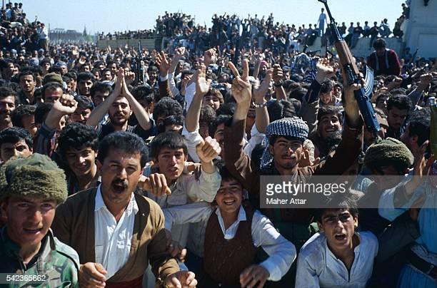 Kurdish Fighters Celebrating a Victory over Saddam Hussein