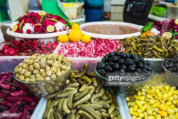 Kurdish food in bazaar, Sulaymaniyah, Kurdistan, Iraq