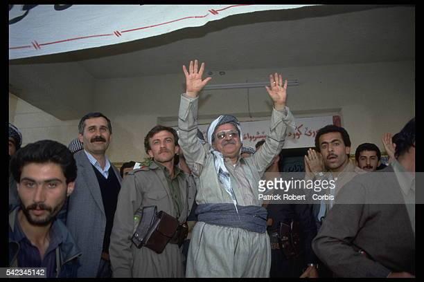 Kurdish leader Jalal Talabani arrives in Dohouk, Iraq, a city under Kurdish control.   Location: Dohouk, Iraq.