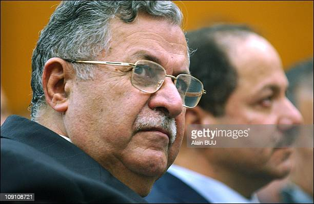 Kurdish Leaders Jalal Talabani And Massoud Barzani During A Conference In Paris On November 29Th 2002