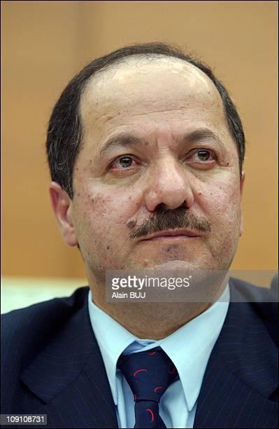 Kurdish Leaders Jalal Talabani And Massoud Barzani During A Conference In Paris On November 29Th, 2002. Massoud Barzani, Leader Of The Kurdish...