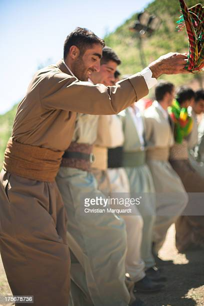 Kurdish man dance during a wedding ceremony at a small village in the mountains of Hakkari on June 06 2013 Hakkari is a city and the capital of the...