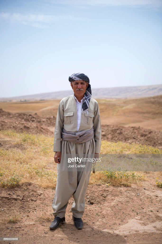 Kurdish man in northern Iraq : Stock Photo