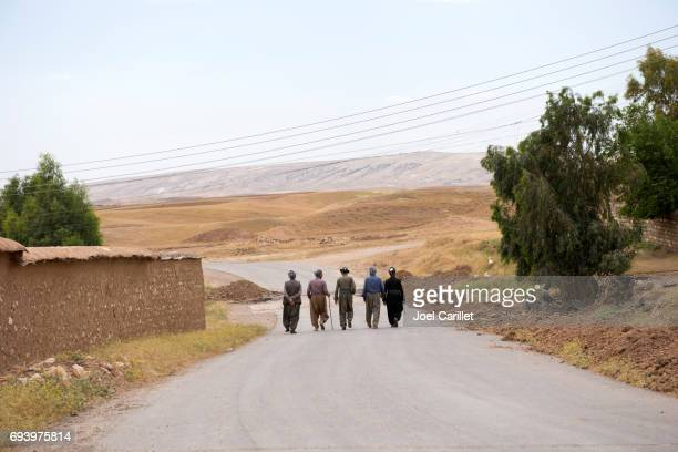 Kurdish men socializing in Dubardan, northern Iraq