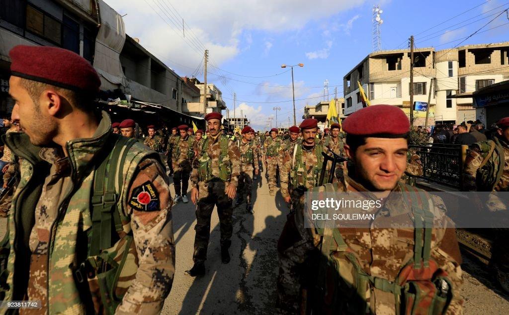 SYRIA-TURKEY-CONFLICT-KURDS-DEMO : News Photo