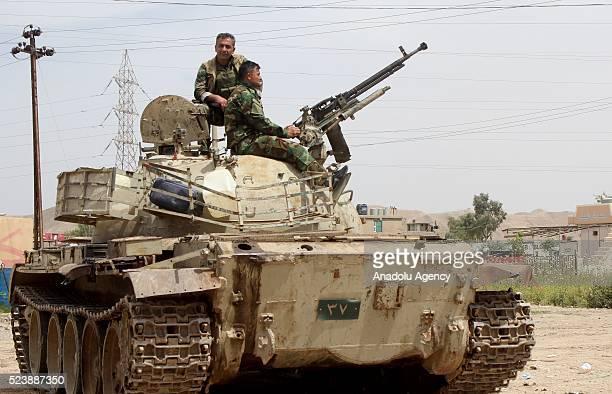 Kurdish Peshmerga fighters are seen during the clashes between Hashd Shaabi and Kurdish Peshmerga fighters in Tuz Khormato district of Saladin, Iraq...