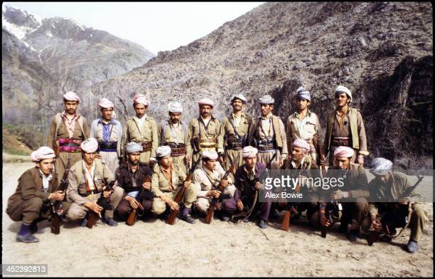 Kurdish Peshmerga fighters in the Zagros Mountains of northern Iraq 15th May 1979