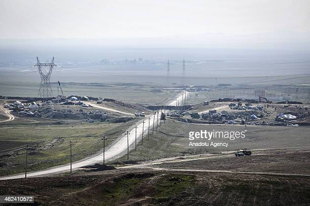 Kurdish Peshmerga forces take security measures against militants of Islamic State of Iraq and the Levant north of Mosul on January 28 2015