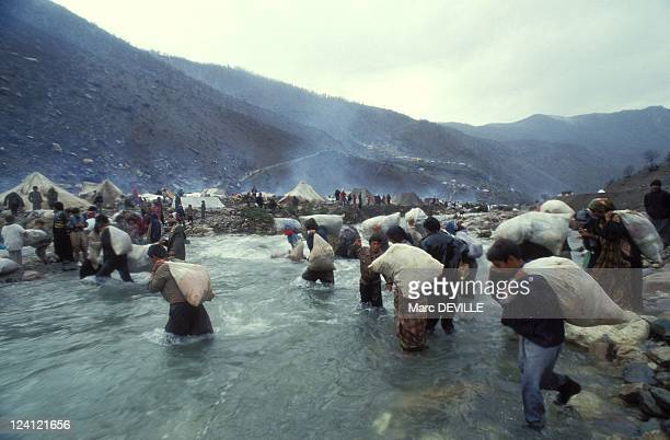 Kurdish refugee camp at the TurkishIraqi border in Iraq on April 13 1991