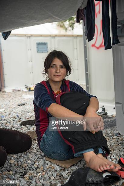 Kurdish refugee from Syria on Lesbos, Greece