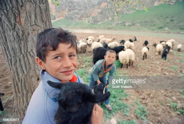 Kurdish shepherd boys in Hasankeyf in southeastern Turkey 2004