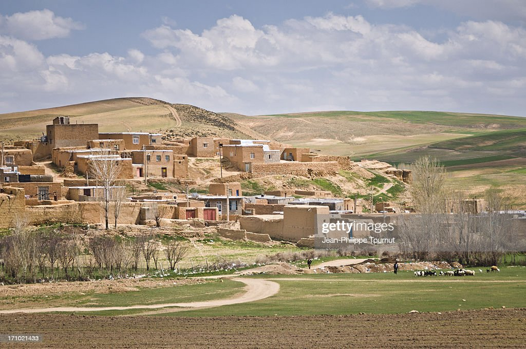 Kurdish Village near Bijar : ストックフォト