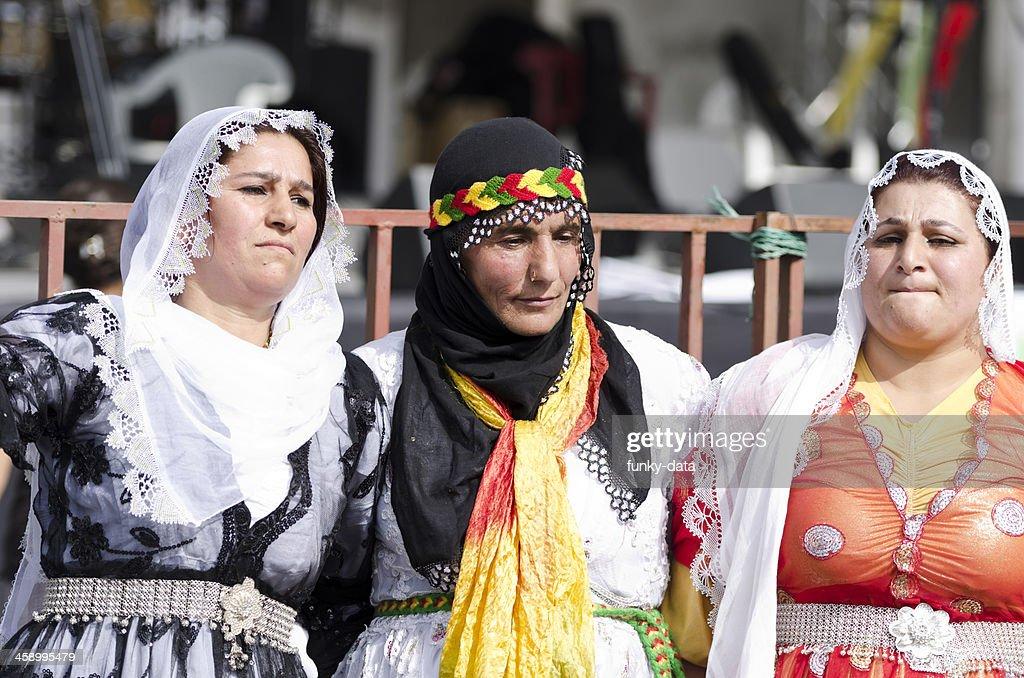 Kurdish women in traditional dress dancing (Halay) : Stock Photo