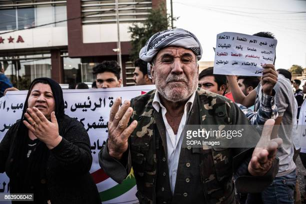 Kurds displaced from Kirkuk by the ongoing conflict between Iraq allied with Iranian backed Militia group Hashd al Shaabi and the semi autonomous...