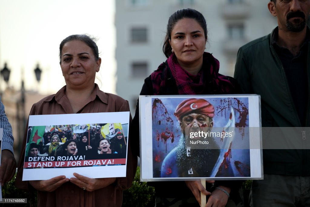 Kurds Protest In Athens : News Photo