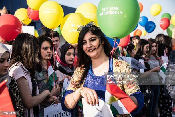 Kurds protest peacefully against the closure of their international airports to all international flights by the Iraqi government Erbil airport has...