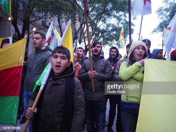 Kurds that live in Greece protest in Athens against the attacks of the Turkish government and Tayip Erdoghan against Kurds in Turkey.