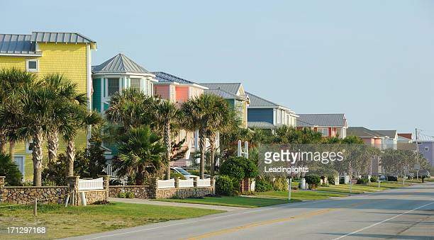 kure beach - wilmington north carolina stock photos and pictures