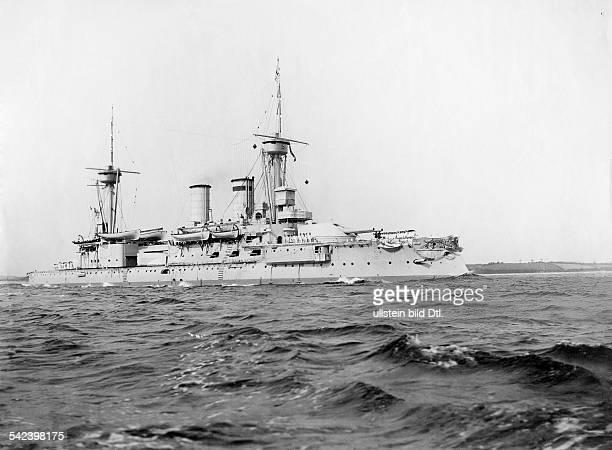 SMS Kurfuerst Friedrich Wilhelm battleship 1899 Photographer A Renard Vintage property of ullstein bild