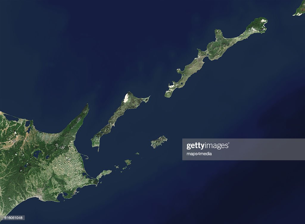 This is an enhanced Landsat 7 Satellite Image of the Kuril