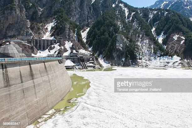 Kurobe Dam at Mt Tateyama, Toyama City in Japan.