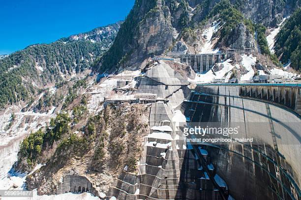 Kurobe Dam at Mt Tateyama, Toyama City in Japan
