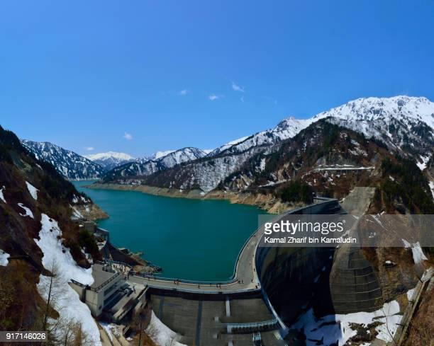 Kurobe dam at Tateyama Kurobe alpine route