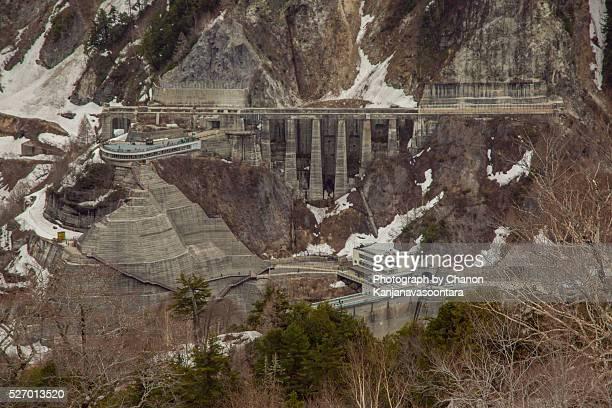 Kurobe Dam on Alpine Alps Japan