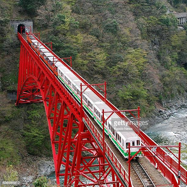 Kurobe Japan The Kurobe Gorge train that runs in Kurobe Toyama Prefecture resumes operations on April 20 after services were suspended for the winter...