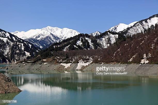Kurobe lake and Tateyama mountain range, Toyama Prefecture, Honshu, Japan