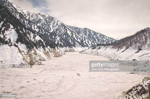 Kurobe river ice