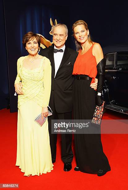 Kurt and Paola Felix and Nina Ruge arrive at the Bambi Awards 2008 on November 27 2008 in Offenburg Germany