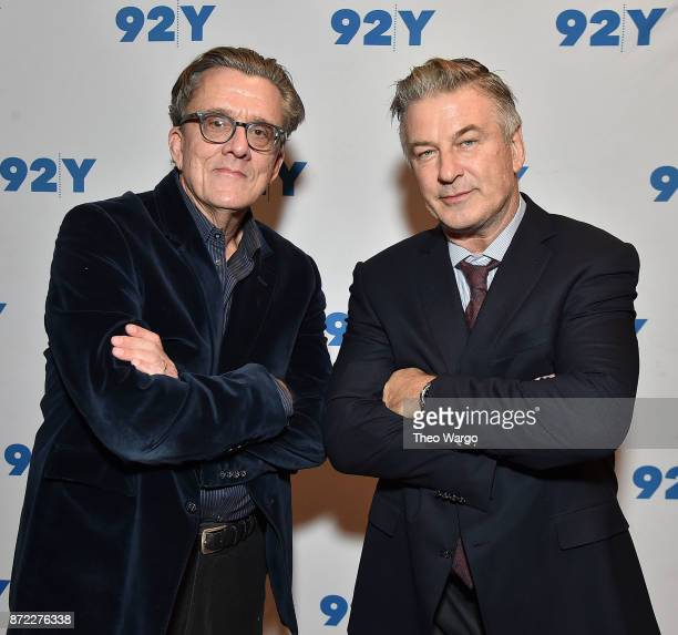 Kurt Andersen and Alec Baldwin In Conversation With Brian Lehrer 'You Can't Spell America Without Me' at 92nd Street Y on November 9 2017 in New York...
