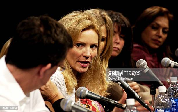 Kurt Anderson Joan Allen Kyra Sedgwick director Patty Jenkins and director Mira Nair at the Found In Translation How Women Make Movies on the panel...