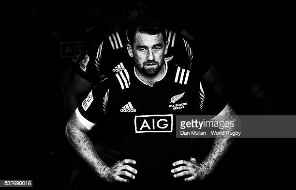 Kurt Baker of New Zealand prepares to lead out his team from the tunnel prior to during the Plate Semi Final match between New Zealand and South...