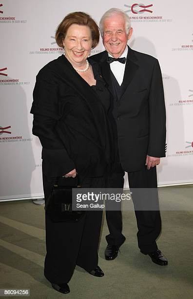 Kurt Biedenkopf and his wife Ingrid attend the Roland Berger Award 2009 at the Konzerthaus am Gendarmenmarkt on April 21, 2009 in Berlin, Germany.
