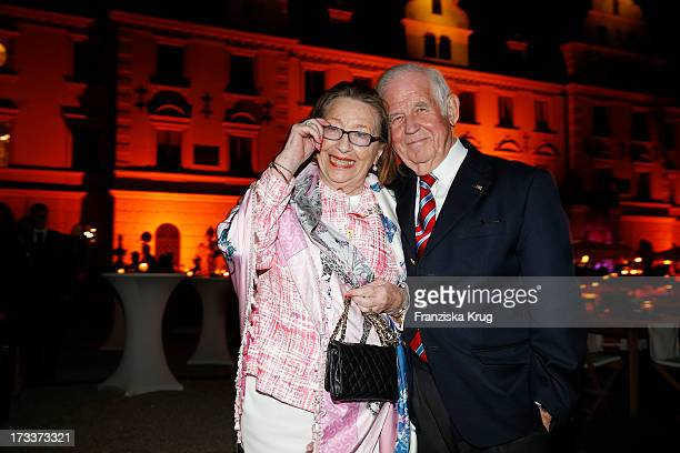 Kurt Biedenkopf and his wife Ingrid Biedenkopf attend the opera 'La Traviata' at the Thurn & Taxis Castle Festival Opening on July 12, 2013 in...