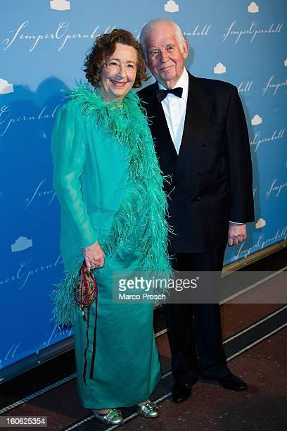 Kurt Biedenkopf and Ingrid Biedenkopf attend the 'Semper Opera Ball 2013' on February 1 2013 in Dresden Germany