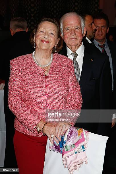 Kurt Biedenkopf and wife Ingrid Biedenkopf attend the Steiger Award 2013 at Dortmunder U on October 12, 2013 in Dortmund, Germany.