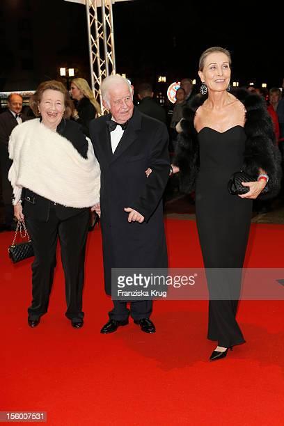 Kurt Biedenkopf, Ingrid Biedenkopf and Maren Otto attend the '19th Opera Gala' at Deutsche Oper on November 10, 2012 in Berlin, Germany.