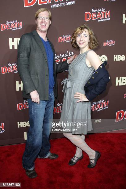 Kurt Braunohler and Kristen Schaal attend HBO Presents the Season Premiere of BORED TO DEATH at NYU Skirball Center on September 21 2010 in New York...