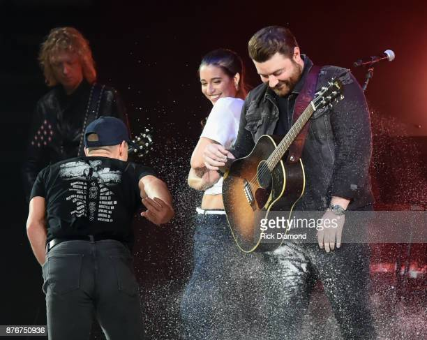 Kurt Browning Alissa Czisny and Chris Young perform during the second annual 'An Evening Of Scott Hamilton Friends' hosted by Scott Hamilton to...