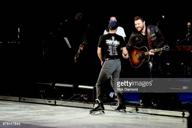 Kurt Browning and Chris Young perform during the second annual An Evening Of Scott Hamilton Friends hosted by Scott Hamilton to benefit The Scott...