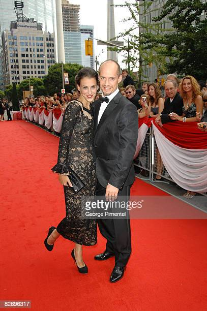Kurt Browning and wife Sonia Rodriguez attend Canada's Walk of Fame at the Four Seasons Performing Arts Centre on September 6 2008 in Toronto Canada