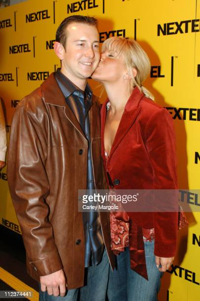 Kurt Busch and guest during 2004 Nascar Nextel Cup Series Champion's Celebration at Marquee in New York City New York United States