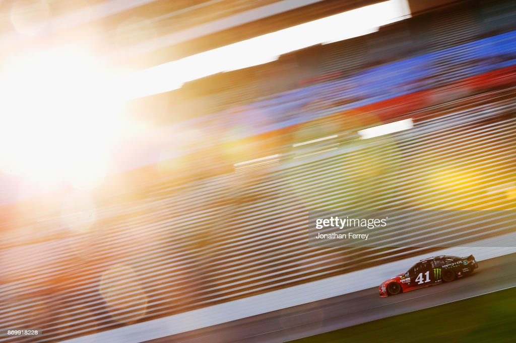Kurt Busch, driver of the #41 Haas Automation/Monster Energy Ford, drives during Salute To Veterans Qualifying Days Fueled by Texas Lottery for the Monster Energy NASCAR Cup Series AAA Texas 500 at Texas Motor Speedway on November 3, 2017 in Fort Worth, Texas.