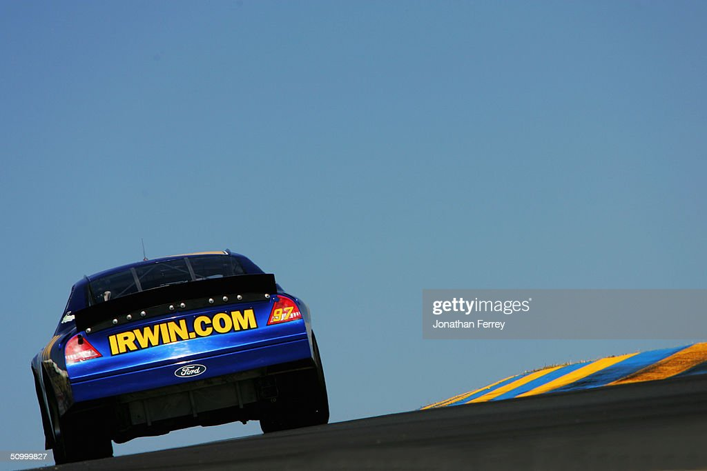Kurt Busch Drives His #97 Irwin Ford During Practice For The NASCAR Nextel  Cup Dodge