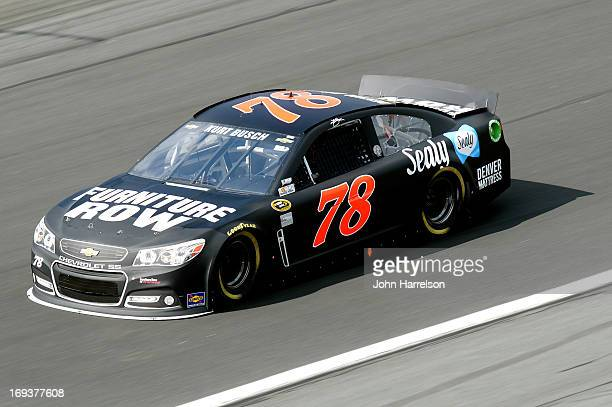 Kurt Busch drives the Furniture Row Racing Chevrolet during practice for the NASCAR Sprint Cup Series CocaCola 600 at Charlotte Motor Speedway on May...